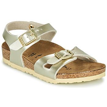 Pantofi Fete Sandale  Birkenstock RIO Auriu