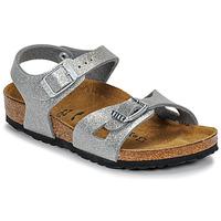 Pantofi Fete Sandale  Birkenstock RIO Glitter / Silver