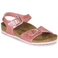 Pantofi Fete Sandale  Birkenstock RIO PLAIN Cosmic / Sparkle / Old / Roz