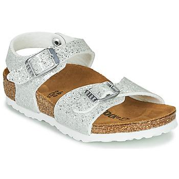 Pantofi Fete Sandale  Birkenstock RIO PLAIN Alb