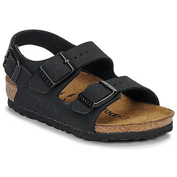 Pantofi Băieți Sandale  Birkenstock MILANO Nubuck / Black