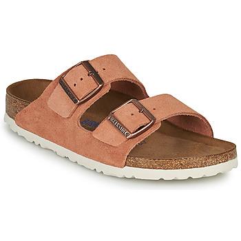 Pantofi Femei Papuci de vară Birkenstock ARIZONA SFB LEATHER Maro ruginiu