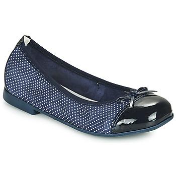 Pantofi Fete Balerin și Balerini cu curea André PIA Bleumarin