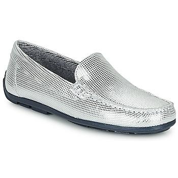 Pantofi Fete Mocasini André MANU Argintiu