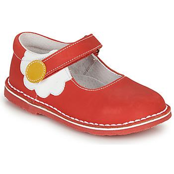 Pantofi Fete Balerin și Balerini cu curea André PAQUERETTE Roșu