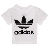 Îmbracaminte Copii Tricouri mânecă scurtă adidas Originals MAELYS Alb