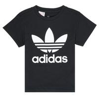 Îmbracaminte Copii Tricouri mânecă scurtă adidas Originals LEILA Negru