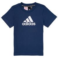Îmbracaminte Băieți Tricouri mânecă scurtă adidas Performance BRIAN Bleumarin