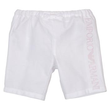 Îmbracaminte Fete Pantaloni scurti și Bermuda Emporio Armani Aniss Alb