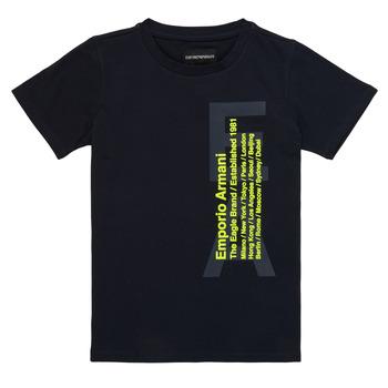 Îmbracaminte Băieți Tricouri mânecă scurtă Emporio Armani Andoni Bleumarin