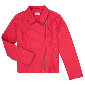 Îmbracaminte Fete Jachete din piele și material sintetic Only KONCARLA Roz