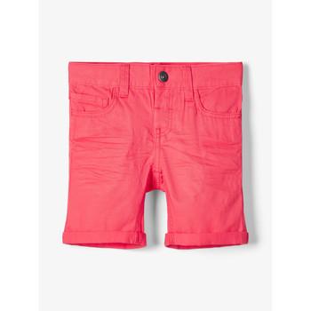 Îmbracaminte Băieți Pantaloni scurti și Bermuda Name it NMMSOFUS TWIISKA Roșu