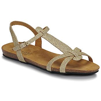 Pantofi Femei Sandale  André BORA Auriu