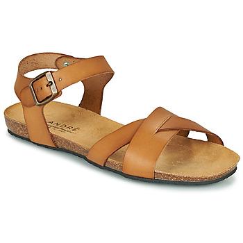 Pantofi Femei Sandale  André BREHAT Camel