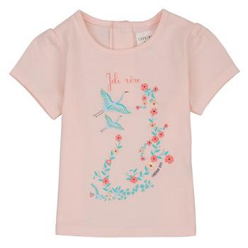 Îmbracaminte Fete Tricouri mânecă scurtă Carrément Beau NOLAN Roz