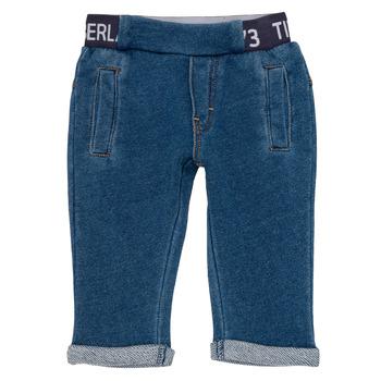 Îmbracaminte Băieți Pantalon 5 buzunare Timberland VALENTIN Albastru