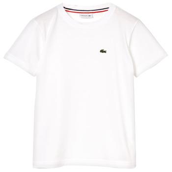 Îmbracaminte Băieți Tricouri mânecă scurtă Lacoste APAULINE Alb