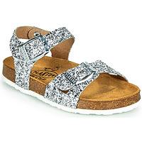 Pantofi Fete Sandale și Sandale cu talpă  joasă Plakton LISA Argintiu