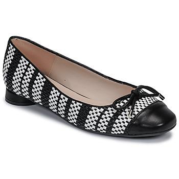 Pantofi Femei Balerin și Balerini cu curea Fericelli MARYA Negru / And / Alb