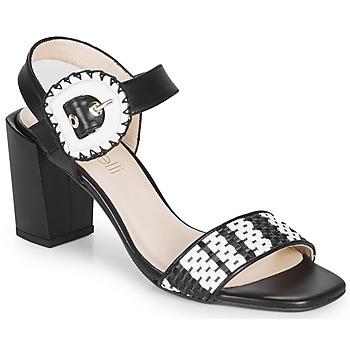 Pantofi Femei Sandale  Fericelli MAIRA Negru / And / Alb