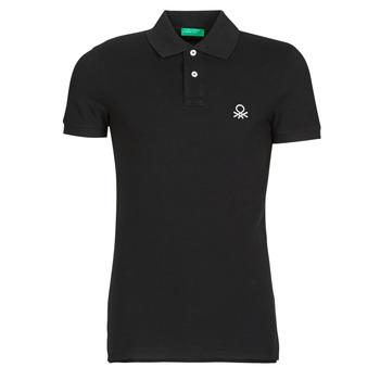 Îmbracaminte Bărbați Tricou Polo mânecă scurtă Benetton MARNELLI Negru