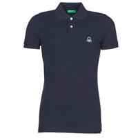 Îmbracaminte Bărbați Tricou Polo mânecă scurtă Benetton MARAKY Bleumarin