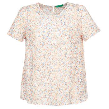 Îmbracaminte Femei Topuri și Bluze Benetton DANIEL Alb / Multicolor