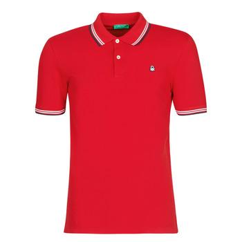 Îmbracaminte Bărbați Tricou Polo mânecă scurtă Benetton GUERY Roșu