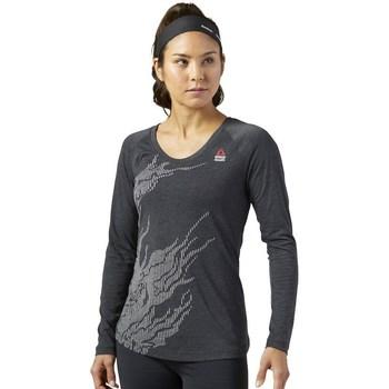 Îmbracaminte Femei Tricouri cu mânecă lungă  Reebok Sport Crossfit Burnout Grafit