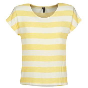 Îmbracaminte Femei Tricouri mânecă scurtă Vero Moda  Galben / Alb