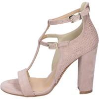 Pantofi Femei Sandale  Olga Rubini sandali camoscio sintetico borchie Rosa