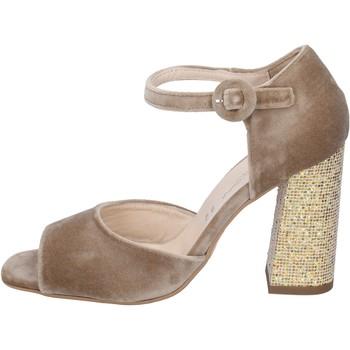 Pantofi Femei Sandale  Olga Rubini sandali velluto Beige