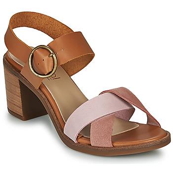 Pantofi Femei Sandale  Casual Attitude MEL Camel / Roz