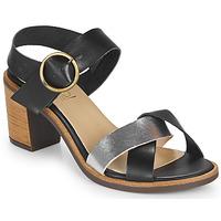 Pantofi Femei Sandale  Casual Attitude MILLA Negru / Argintiu