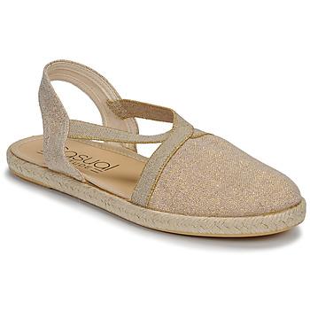 Pantofi Femei Sandale  Casual Attitude MISSA Bej / Auriu