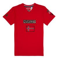 Îmbracaminte Băieți Tricouri mânecă scurtă Geographical Norway JIRI Roșu