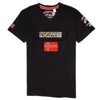 Îmbracaminte Băieți Tricouri mânecă scurtă Geographical Norway JIRI Negru