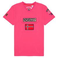 Îmbracaminte Băieți Tricouri mânecă scurtă Geographical Norway JIRI Roz