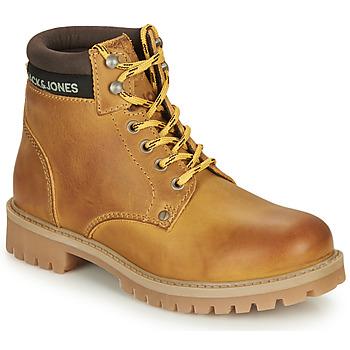 Pantofi Băieți Ghete Jack & Jones JR STATTON LEATHER Miel