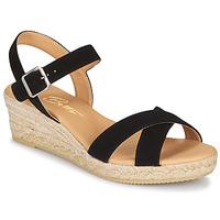 Pantofi Femei Sandale  Betty London GIORGIA Negru / Maro-scoarță