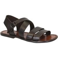 Pantofi Bărbați Sandale  Gianluca - L'artigiano Del Cuoio 508 U MORO CUOIO Testa di Moro
