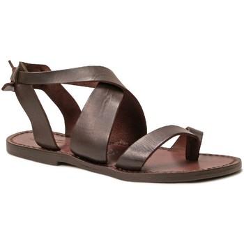 Pantofi Femei Sandale  Gianluca - L'artigiano Del Cuoio 571 D MORO CUOIO Testa di Moro