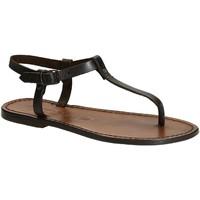 Pantofi Femei Sandale  Gianluca - L'artigiano Del Cuoio 532 D MORO CUOIO Testa di Moro