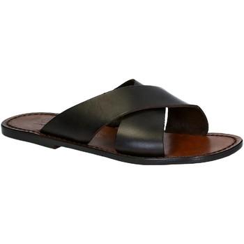 Pantofi Bărbați Papuci de vară Gianluca - L'artigiano Del Cuoio 560 U MORO CUOIO Testa di Moro