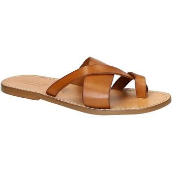 Pantofi Bărbați  Flip-Flops Gianluca - L'artigiano Del Cuoio 545 U CUOIO CUOIO Cuoio