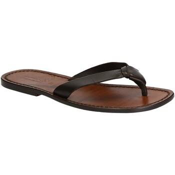 Pantofi Bărbați  Flip-Flops Gianluca - L'artigiano Del Cuoio 580 U MORO CUOIO Testa di Moro
