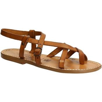 Pantofi Femei Sandale  Gianluca - L'artigiano Del Cuoio 530 D CUOIO CUOIO Cuoio
