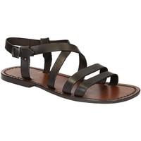 Pantofi Bărbați Sandale  Gianluca - L'artigiano Del Cuoio 531 U MORO CUOIO Testa di Moro