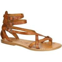 Pantofi Femei Sandale  Gianluca - L'artigiano Del Cuoio 564 D CUOIO CUOIO Cuoio