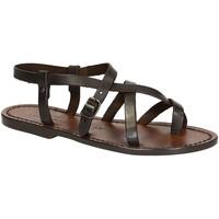 Pantofi Femei Sandale  Gianluca - L'artigiano Del Cuoio 530 D MORO CUOIO Testa di Moro